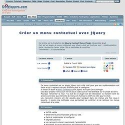 Créer un menu contextuel avec jQuery