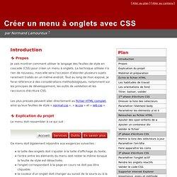 Créer un menu à onglets avec CSS