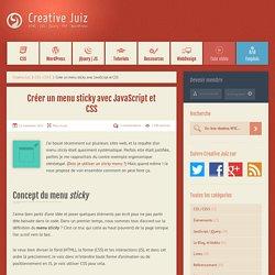 Créer un menu sticky avec JavaScript et CSS