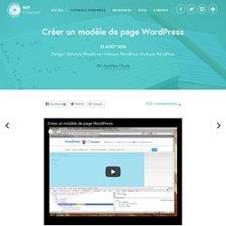 Créer un modèle de page WordPress