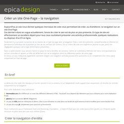 Créer un site One-Page – la navigation