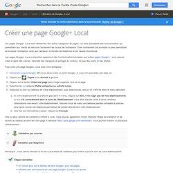 Créer une page Google+ locale - Centre d'aide Google+