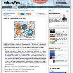 Créer un e.portfolio avec un blog