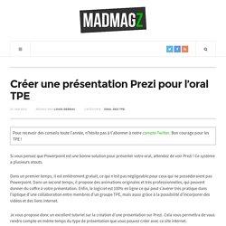 Créer une présentation Prezi pour l'oral TPE
