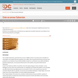 Créer un serveur Subversion
