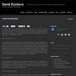Créer son site photo - David Duchens
