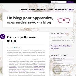 Créer son portfolio avec un blog