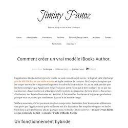Créer un modèle iBooks Author