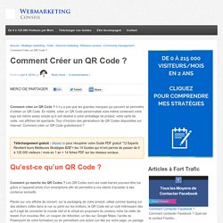 ▶ Créer un QR Code