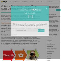 Créer Un Site Internet: Le Guide - Le Blog Officiel de Wix