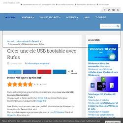 Créer une clé USB bootable avec Rufus