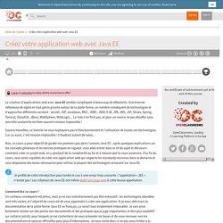 Créez votre application web avec Java EE