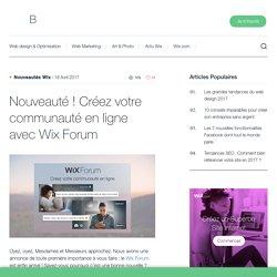 Créez votre communauté en ligne avec Wix Forum - Wix.com