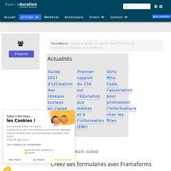 Créez des formulaires avec Framaforms