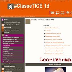Créez des mini-livres sur ClasseTICE