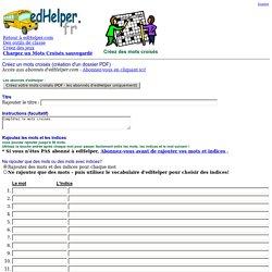 Créez un mots croisés en ligne (PDF)