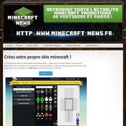 Créez votre skin minecraft sans logiciels !