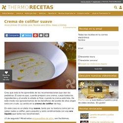Crema de coliflor suave