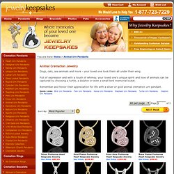 Animal cremation jewelry and animal keepsake jewelry for fond memoirs
