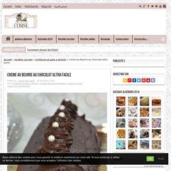 creme au beurre au chocolat ultra facile