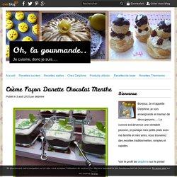 Crème Façon Danette Chocolat Menthe