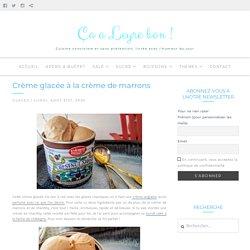 Crème glacée à la crème de marrons