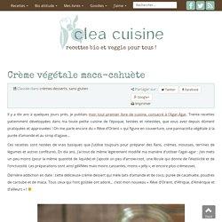 » Crème végétale maca-cahuète