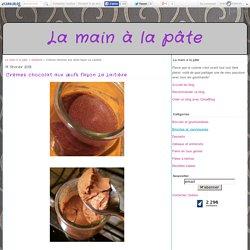 Crèmes chocolat aux œufs façon La Laitière - La main à la pâte