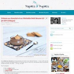 Crèmes au chocolat et au Véritable Petit Beurre LU