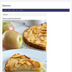 Tarte au pomme crémeuse