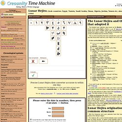 """Creounity Time Machine"", the universal date converter for coin collectors"