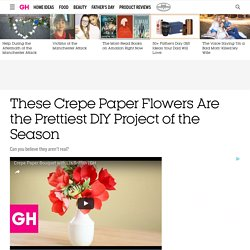 How to Make Crepe Paper Flowers - DIY Projects