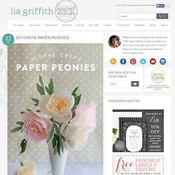 DIY Crepe Paper Peonies