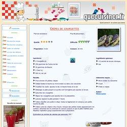 Crèpes de courgettes - QueCuisiner.fr