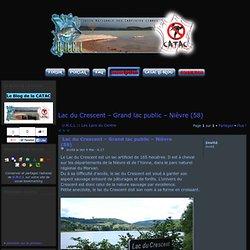 Lac du Crescent – Grand lac public – Nièvre (58)