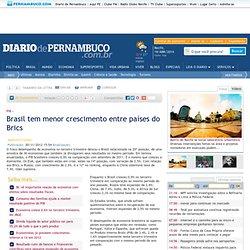 Brasil tem menor crescimento entre países do Brics