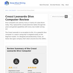 Cressi Leonardo Dive Computer Review - Scuba Diving Gear