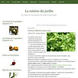 Cresson alénois sauce soja - La cuisine du jardin