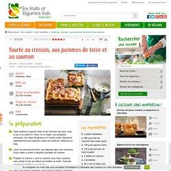 Tourte au cresson, aux pommes de terre et au saumon - Recette Interfel/CNIPT