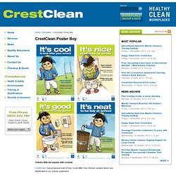 CrestClean Poster Boy - Crest Commercial Cleaning Ltd