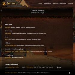 Crestfall: Sitemap
