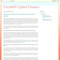 Cresthill Capital Finance: Decoding two biggest misconceptions about the alt-fin industry
