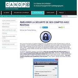 Canopé Créteil - Améliorer la sécurité de ses comptes avec Keepass
