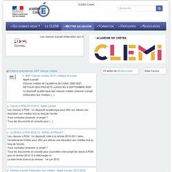 [CLEMI-Créteil] Les classes à projet d'éducation aux médias (classe PEM)