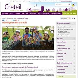 Ville de Créteil - Développement durable