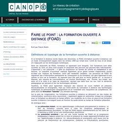 Canopé Créteil - Faire le point : la formation ouverte à distance (FOAD)