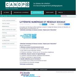 Canopé Créteil - Littératie numérique et réseaux sociaux