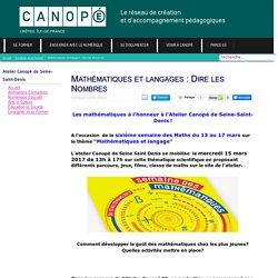 #AnimCanope93 Mathématiques et langages : Dire les Nombres