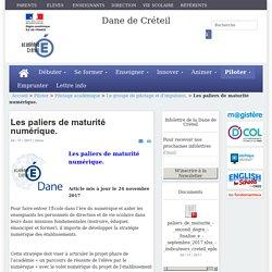 Dane de Créteil - Les paliers de maturité numérique.