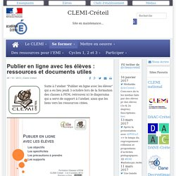 Publier en ligne avec les élèves : ressources et documents utiles